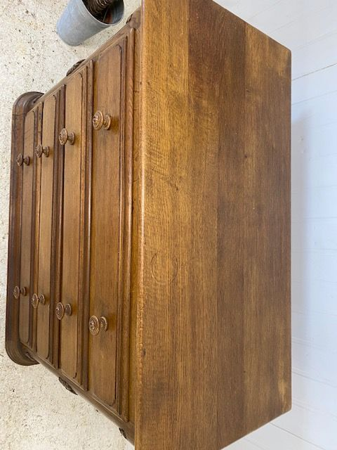 Vintage French Chest of Drawers -  Solid Oak - fw12